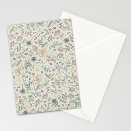 Country Flowers - Tan Stationery Cards