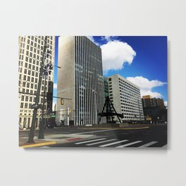 city streets. Metal Print