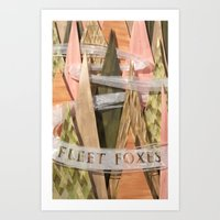 fleet foxes Art Prints featuring Fleet Foxes by Taylor Stone