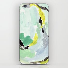 Twirl Green: Abstract Painting iPhone Skin