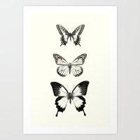 butterflies Art Prints featuring Butterflies // Align by Amy Hamilton