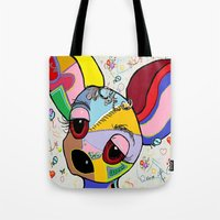 chihuahua Tote Bags featuring Chihuahua by EloiseArt