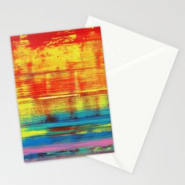 Sunny Sunset, Colorful Abstract Art Stationery Cards