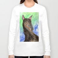 doberman Long Sleeve T-shirts featuring Doberman by gunberk