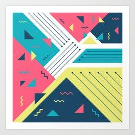 Geometric Memphis Art Print