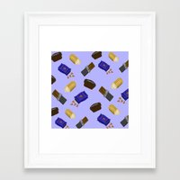 junk food Framed Art Prints featuring Junk Food by Danielle Davis