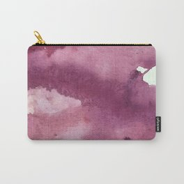 Blushing [2]: a minimal abstract watercolor and ink piece in shades of purple and red Carry-All Pouch