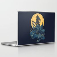 skyrim Laptop & iPad Skins featuring The Dragon Slayer by Fanboy30