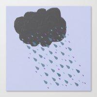cloud Canvas Prints featuring Cloud by BlackBlizzard