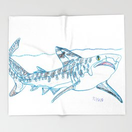 Tiger Shark II Throw Blanket