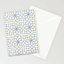Fashion Flower Pattern Art Print Stationery Cards
