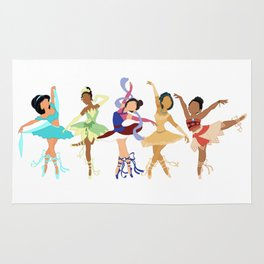 Ballerina Princesses of Color Rug