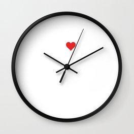 I Love Spreadsheets Computer CPA Accounting T-Shirt Wall Clock