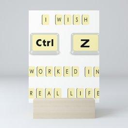 Computer Control Z Undo Redo Command Ctrl Z Funny Gift Mini Art Print