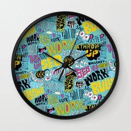 SEO Pattern Wall Clock