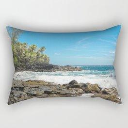 Hawaiian Ocean Blue Rectangular Pillow