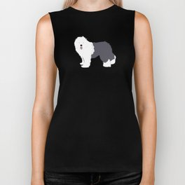 Old English Sheepdog Biker Tank