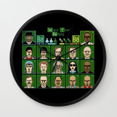 8 Bit Bad Guys Wall Clock