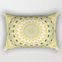 Yellow kaleidoscope Rectangular Pillow