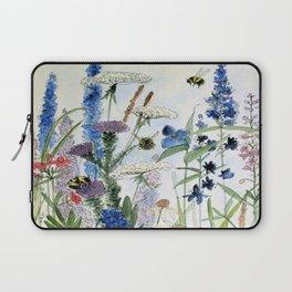 Wildflower in Garden Watercolor Flower Illustration Painting Laptop Sleeve
