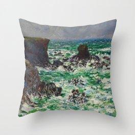 """Claude Monet """"Port Coton: Le Lion"""" Throw Pillow"""