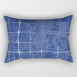 Fargo Map, USA - Blue Rectangular Pillow