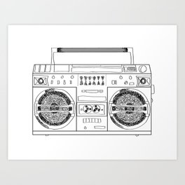 Boooombox Art Print