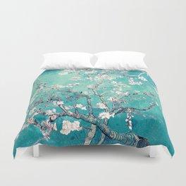Vincent Van Gogh Almond Blossoms Turquoise Duvet Cover