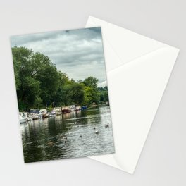 Boats on River Bure Stationery Cards