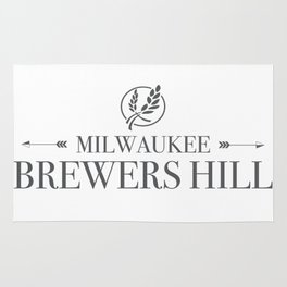 Brewers Hill Wordmark Black Rug