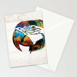 Parrot Head Art By Sharon Cummings Stationery Cards