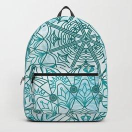 Blue mandala poster Backpack