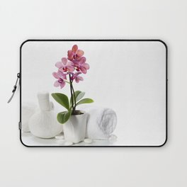 spa composition with beautiful pink orchid Laptop Sleeve