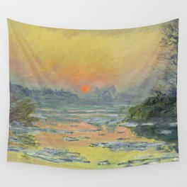 """Claude Monet """"Sunset on the Seine in Winter"""" Wall Tapestry"""
