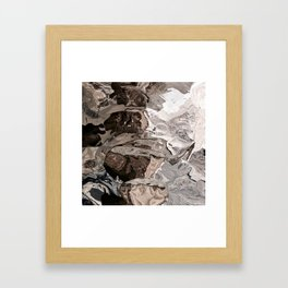 Brownskin texture Framed Art Print