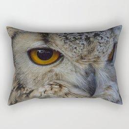 Eurasian eagle-owl, wild bird Rectangular Pillow
