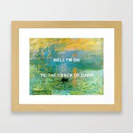 Pass The Sunrise Framed Art Print