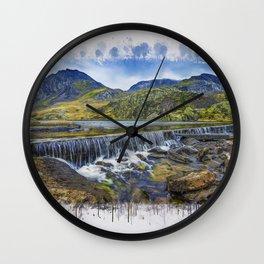 Snowdonia Tryfan Painting Wall Clock