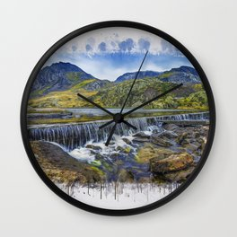 Snowdonia Tryfan Painting Wall Clock