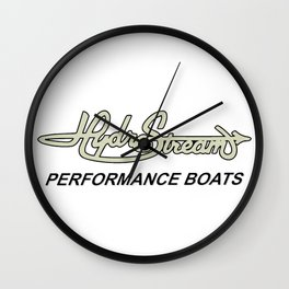Hydrostream Boats Wall Clock
