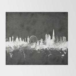London England Skyline Throw Blanket