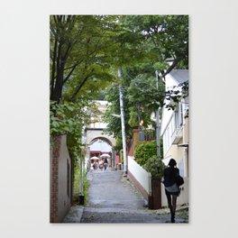 Slow Walk By Self Canvas Print