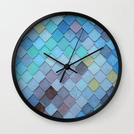 Blue Tiles (Color) Wall Clock