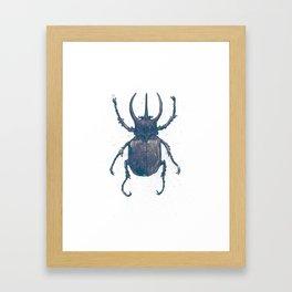 Horned Beetle Framed Art Print