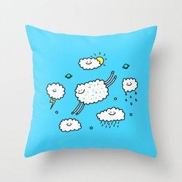Happy Weather Throw Pillow