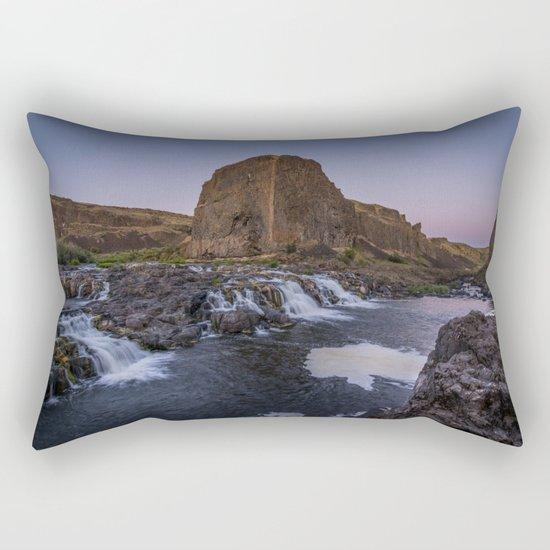 Palouse Falls - Waterfall Sunset Rectangular Pillow