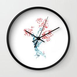 Tribal - Japanese Cherry Tree - Hanami Art T-Shirt Wall Clock