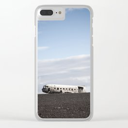 Iceland Plane Wreckage Clear iPhone Case