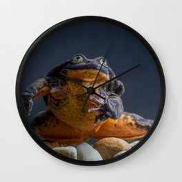 Romeo, the world's loneliest frog (no longer!) Wall Clock