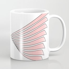 Abstract pink wings - vector Coffee Mug